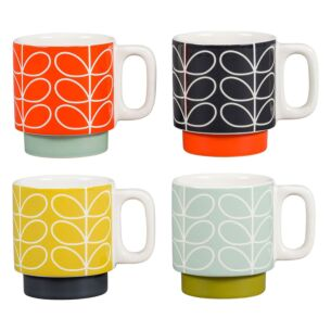 Linear Stem Set of Four Stacking Espresso Mugs