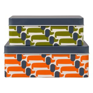 Orla Kiely Dachshund Storage Tins – Set of 2