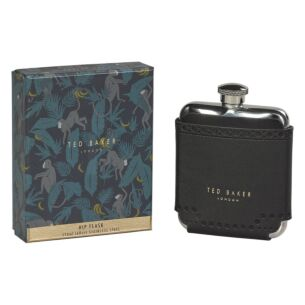 Monkian Black Brogue Hip Flask