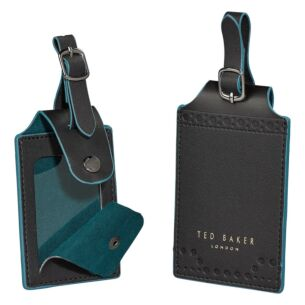 Monkian Black Brogue Set of Two Luggage Tags