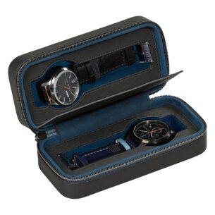 Monkian Black Brogue Watch Travel Case