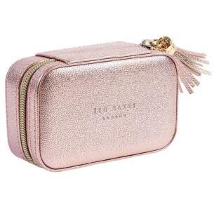Metallic Pink Mini Jewellery Case