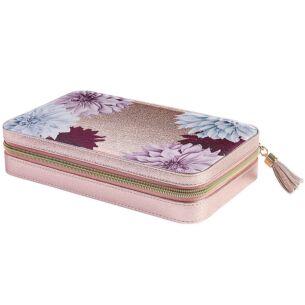 Metallic Pink Clove Large Jewellery Case