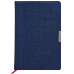 Navy Brogue Geo A5 Notebook
