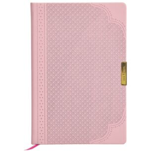 Dusky Pink Brogue Geo A5 Notebook