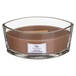 WoodWick Golden Milk Hearthwick Ellipse Candle