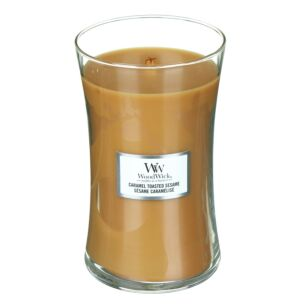 Caramel Toasted Sesame Large Hourglass Candle