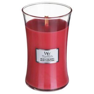 Melon & Pink Quartz Large Hourglass Candle