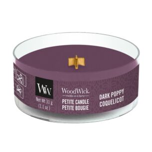 WoodWick Dark Poppy Petite Candle