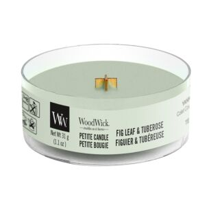 WoodWick Fig Leaf & Tuberose Petite Candle