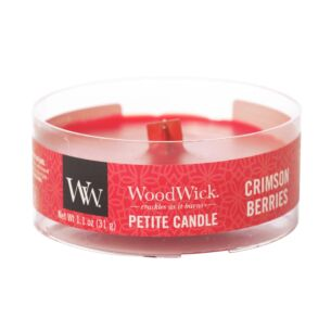 WoodWick Crimson Berries Petite Candle