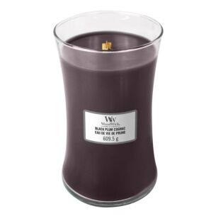 Black Plum Cognac Large Hourglass Candle