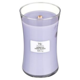 Lavender Spa Large Hourglass Candle