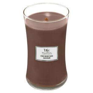 Stone Washed Suede Large Hourglass Candle