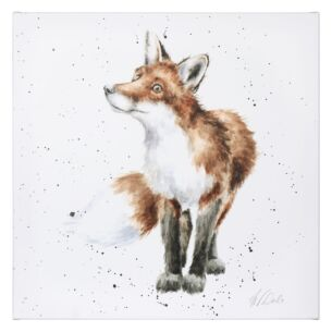 'Bright Eyed and Bushy Tailed' Fox Large Canvas