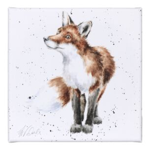 'Bright Eyed and Bushy Tailed' Fox Small Canvas