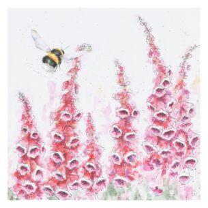 'A Cottage Garden' Bumblebee Card