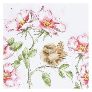'The Rose Garden' Bird Card