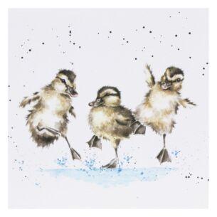 'Puddles' Ducks Card