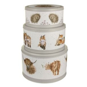 Set of 3 Cake Tins (Cow, Fox, Hedgehog)