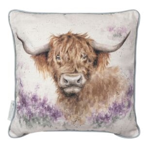 'Highland Heathers' Cow Cushion