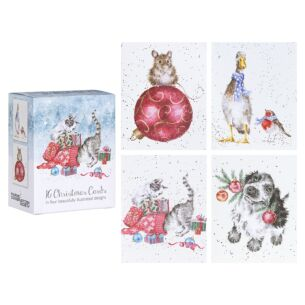 'Kittens' Set of 16 Mini Charity Christmas Cards