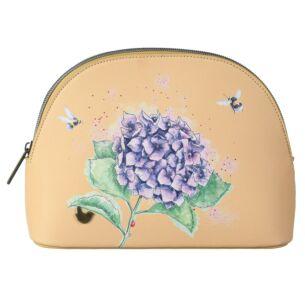 'Hydrangea' Bee Medium Cosmetic Bag