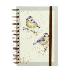 Blue Tit Spiral Bound A5 Notebook