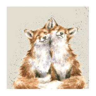 'Contentment' Foxes Set of 20 Napkins