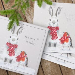 'Snow Angels' Set of 8 Luxury Boxed Christmas Cards