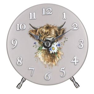 Cow Mantel Clock