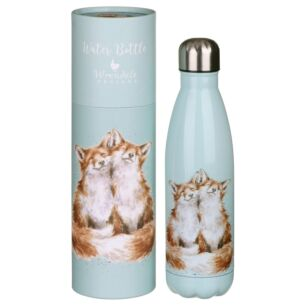 'Contentment' Foxes 500ml Water Bottle