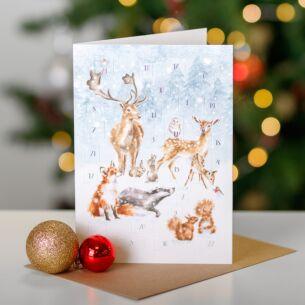 A Woodland Christmas Advent Calendar Card