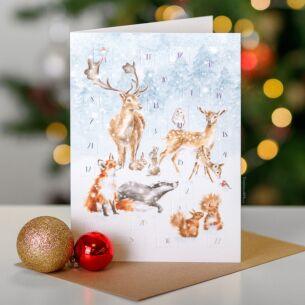 'A Woodland Christmas' Advent Calendar Card