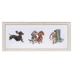 'A Trio Of Dogs' Triple Print with Cream Frame