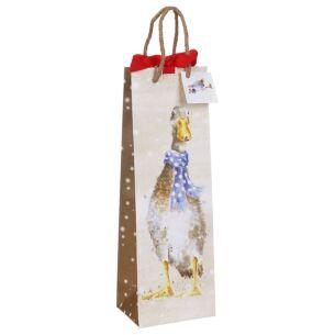 'Christmas Goose' Bottle Gift Bag