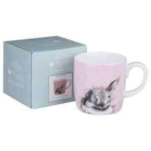 Wrendale 'Bathtime' Large Rabbit Mug From Royal Worcester