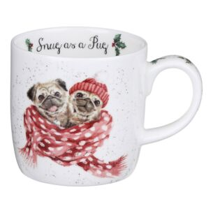 Wrendale 'Snug As A Pug' Dog Mug From Royal Worcester