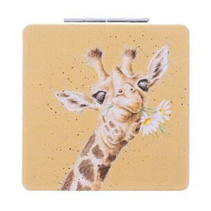 Flowers Giraffe Compact Mirror