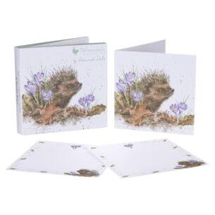 Set Of 12 'New Beginnings' Hedgehog Notecards