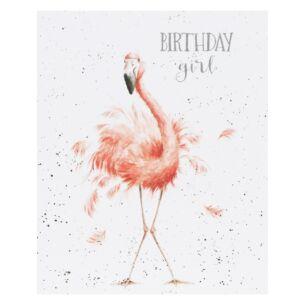 'Birthday Girl' Flamingo Birthday Card