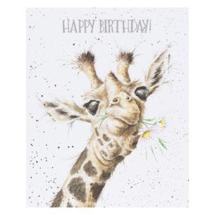'Birthday Flowers' Giraffe Birthday Card