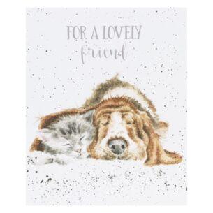 'Dog and Cat Nap' Card