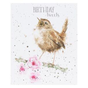 'Birthday Tweets' Bird Birthday Card