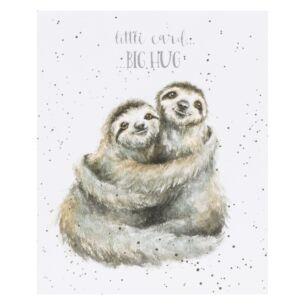 'Little Card, Big Hug' Sloth Card