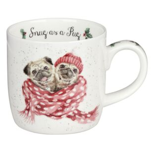 'Snug As A Pug' Dog Mug From Royal Worcester