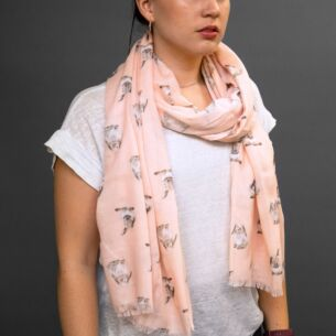 Pink 'Some Bunny' Scarf