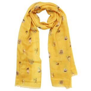 Mustard 'Woodlanders' Scarf