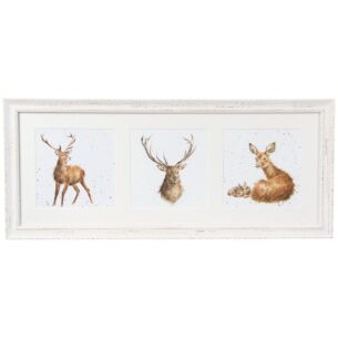 A Trio Of Deer Triple Print With Cream Frame