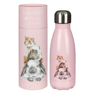 'Piggy In The Middle' Guinea Pig 260ml Water Bottle